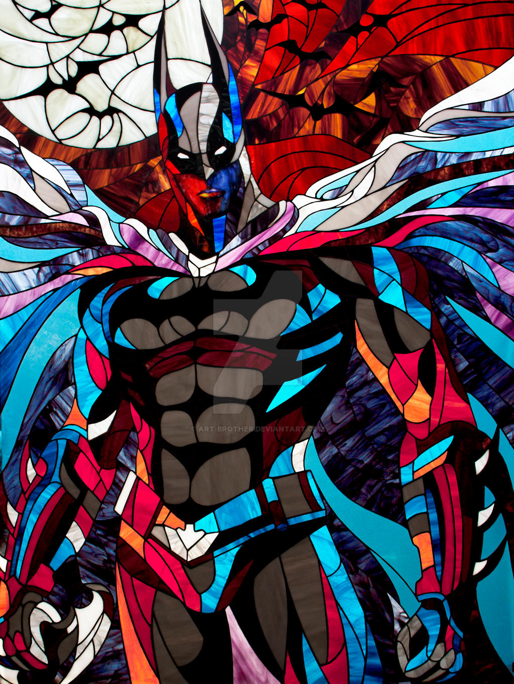 Stained Glass Art : Batman the dark knight photo stained glass by art brother