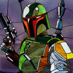 Stained glass picture Boba Fett