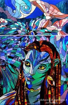 Stained Glass Window Neytiri