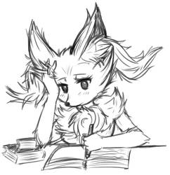 Braixen studying by brireyes