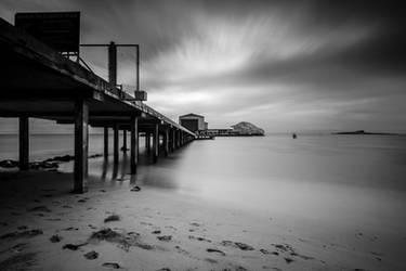 Makai Research Pier Black and White by shod