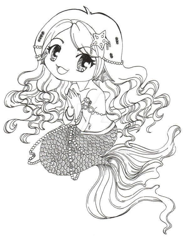 Chibi Mermaid WIP 2 by Clinkorz