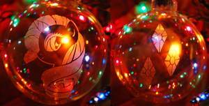 Rarity Glass Ornament