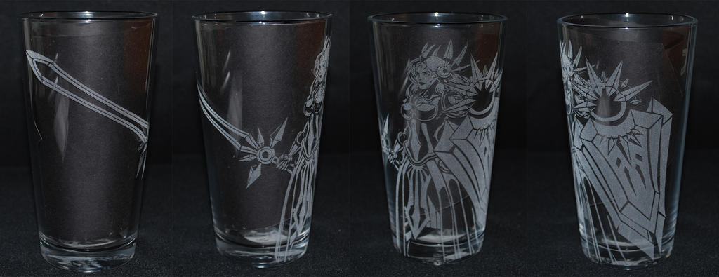 Leona League of Legends Etched Glass by Clinkorz