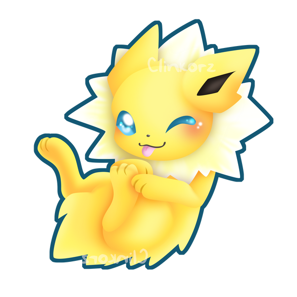 jolteon v2 rub my belly edition by clinkorz on deviantart