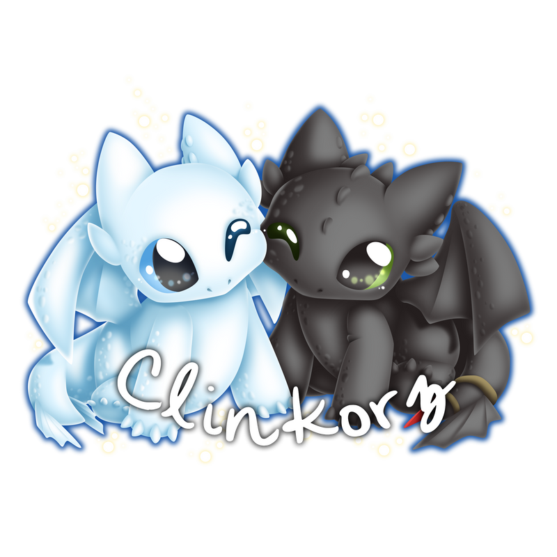 Toothless and Light Fury by Clinkorz on DeviantArt