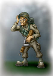 A Soldier, colored by wonrz