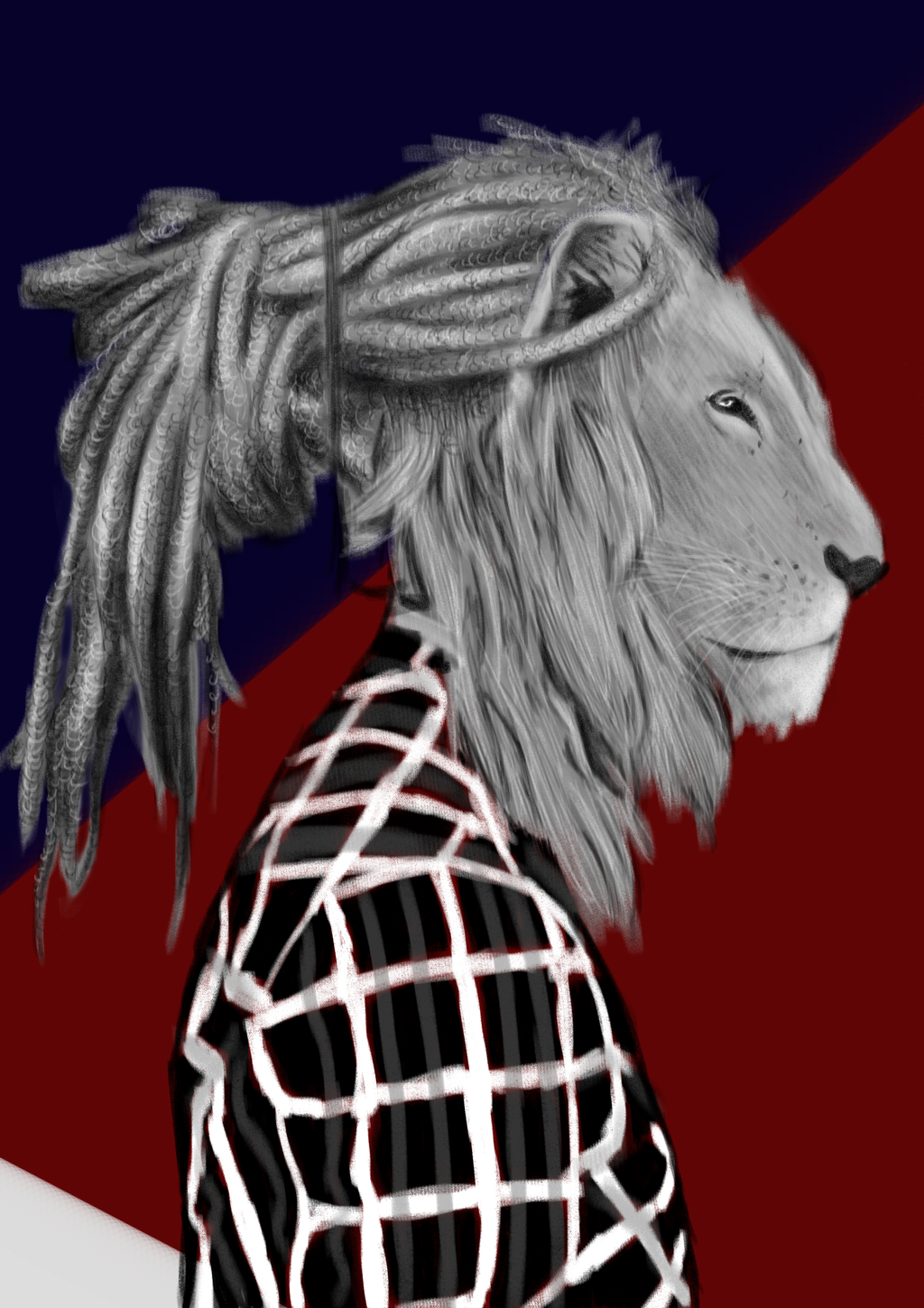 Hipster Lion By RedElsie