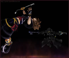 Sora vs Roxas - complete by Questofdreams