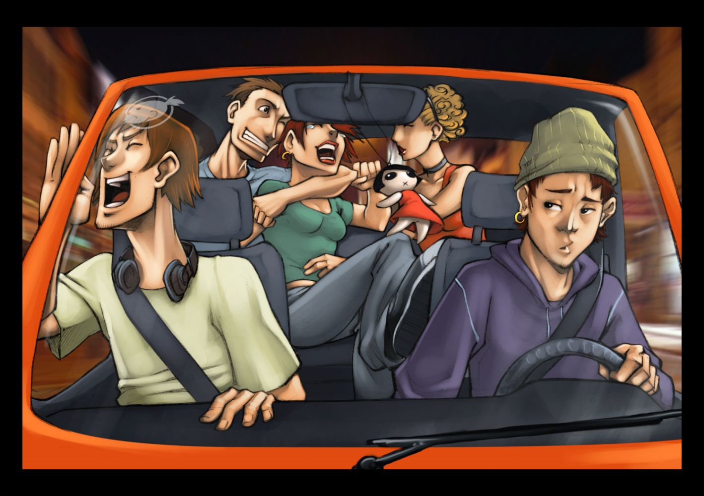 Car party by estivador