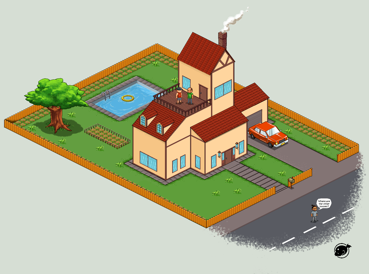 pixel house by estivador
