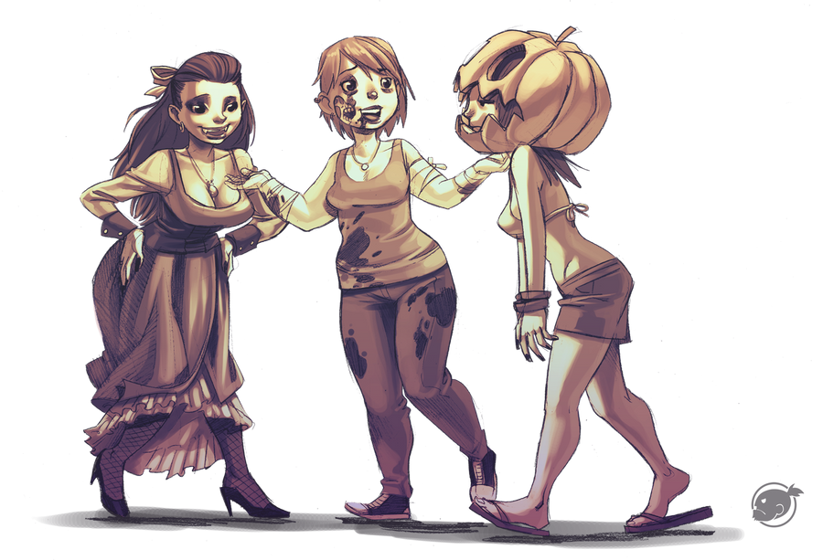 pumpkin costume by estivador