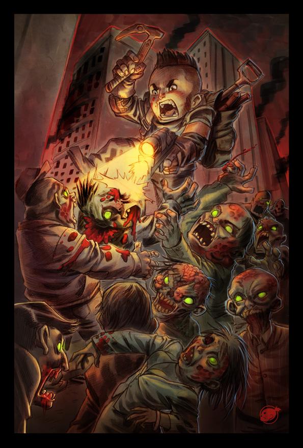 killing zombies by estivador