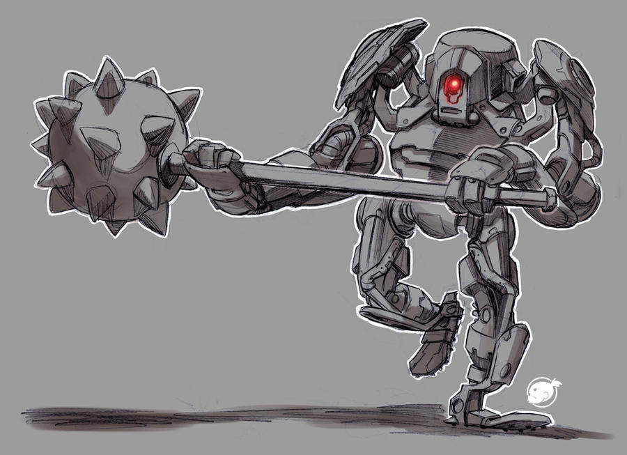 robot morning star by estivador
