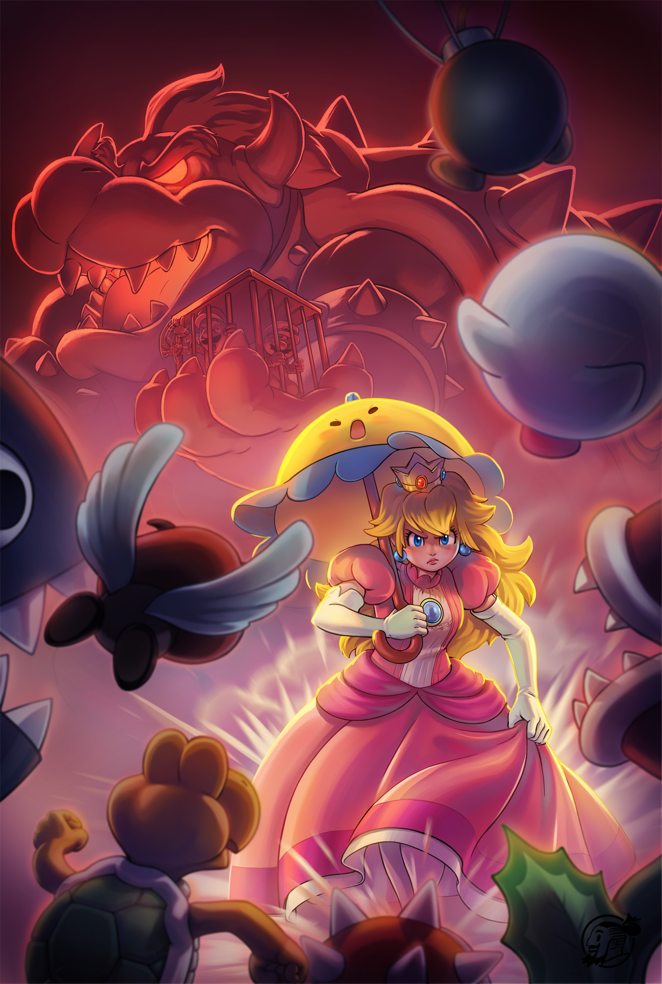 Super Princess Peach DS by estivador