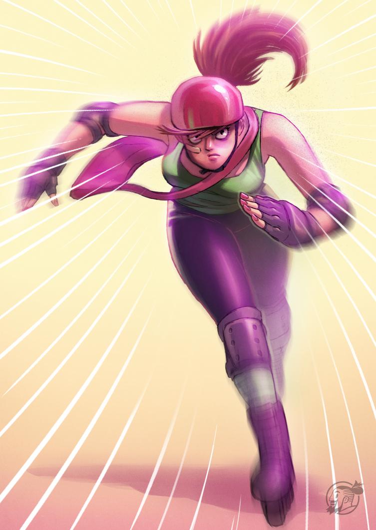 Rollergirl by estivador