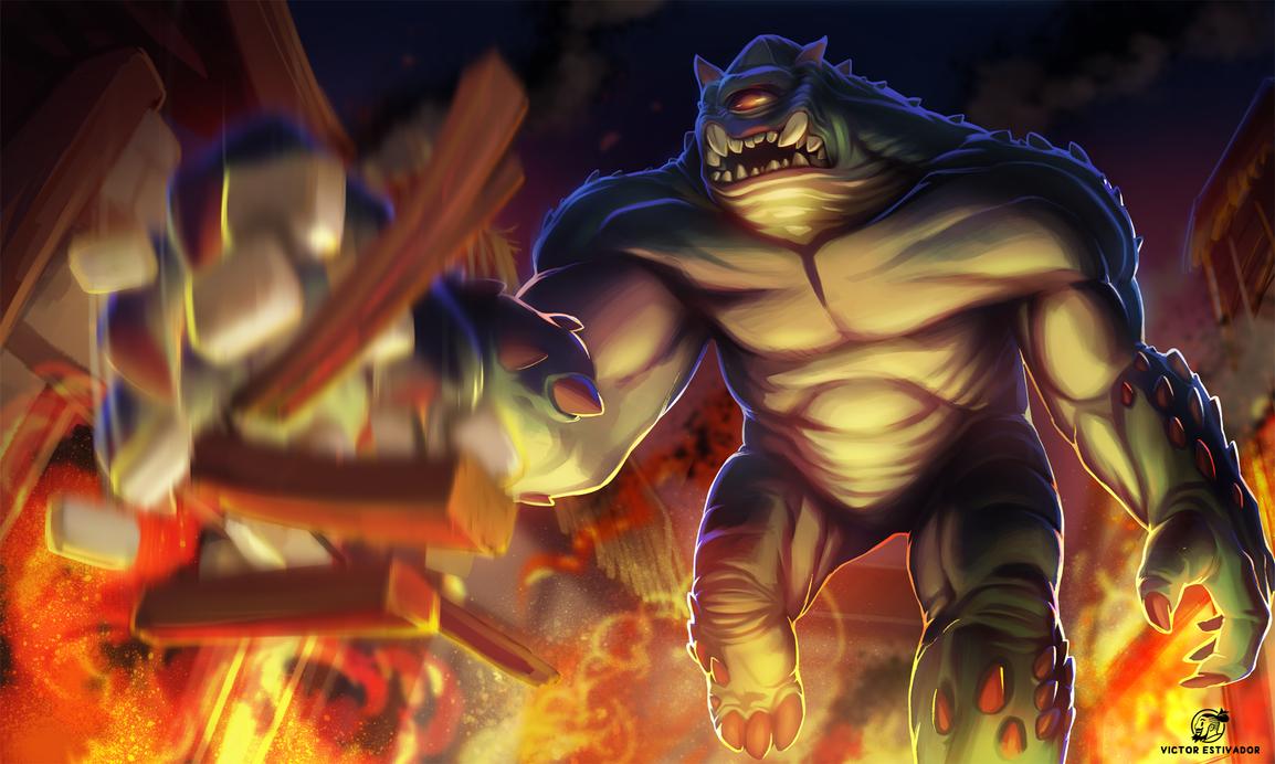 Monster Attack by estivador