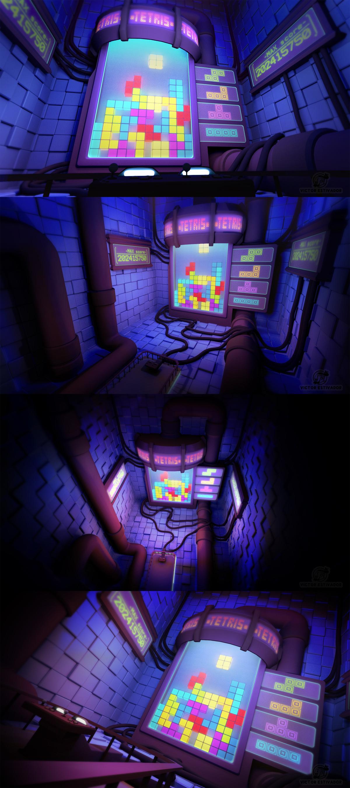 Tetris room by estivador