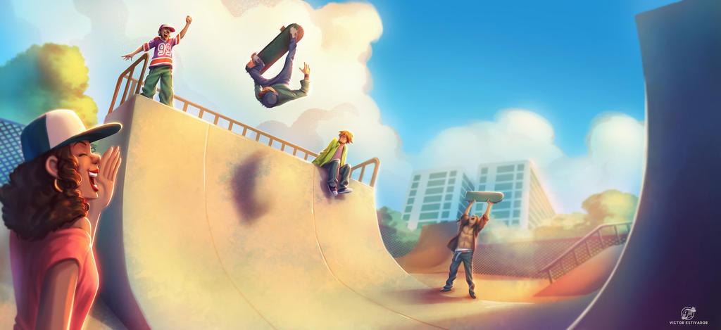 Skatepark by estivador