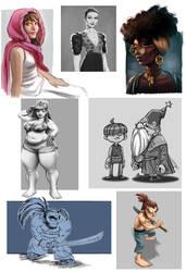 Sketchs from 2018 by estivador