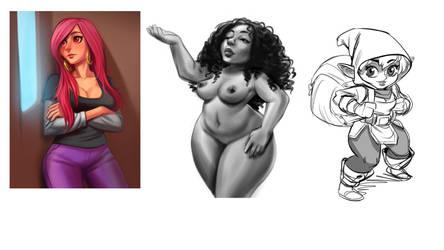 Krita July Sketchs by estivador