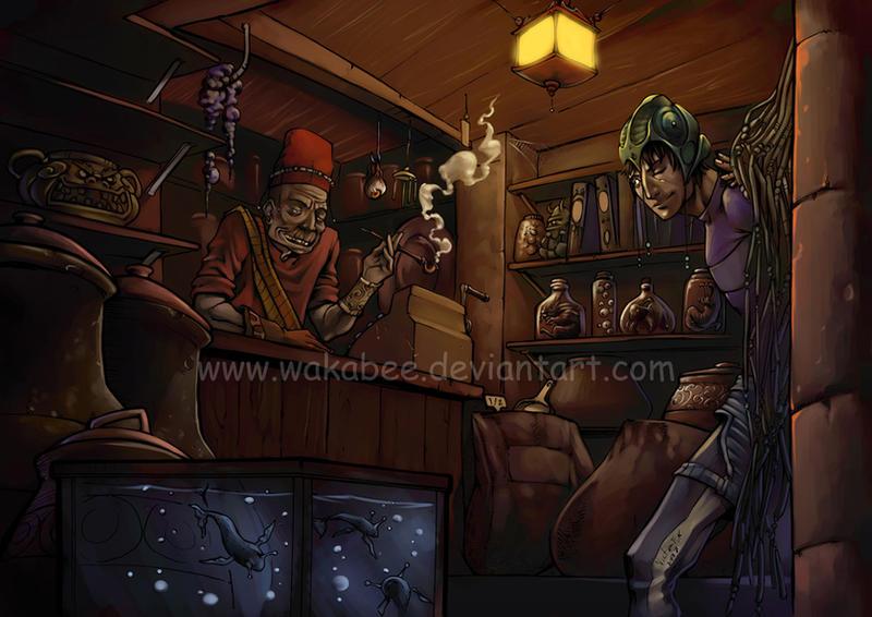 wizard shop by estivador