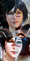 Marian Hawke Cosplay Dragon Age side by side