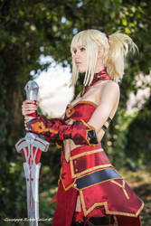 Mordred FGO cosplay by DrosselTira
