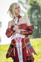 Mordred Fate/Grand Order cosplay by DrosselTira