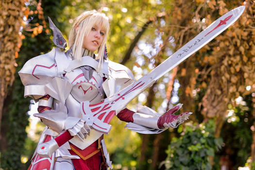 Mordred Saber of Red Fate/Apocrypha cosplay