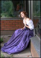 Lila Sitting III by Eirian-stock