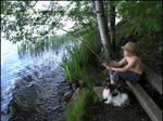 Angler - Boy and Dog