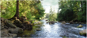 BG River Panorama by Eirian-stock