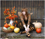 Fairy And Her Pumpkins