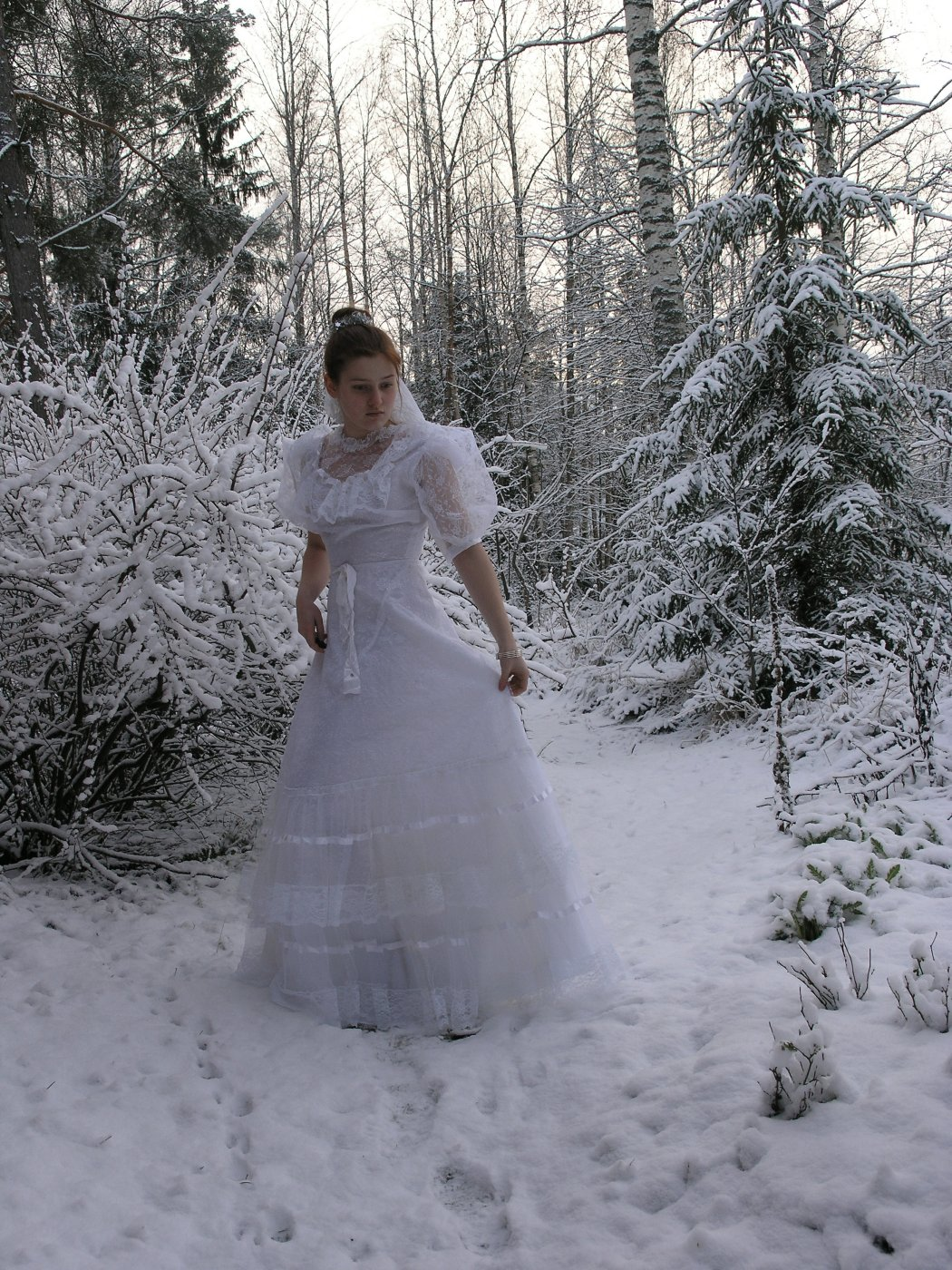 Bride in the snow 1 by Eirian-stock