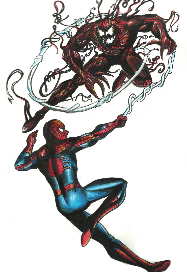 Spiderman vs carnage drawings - photo#24