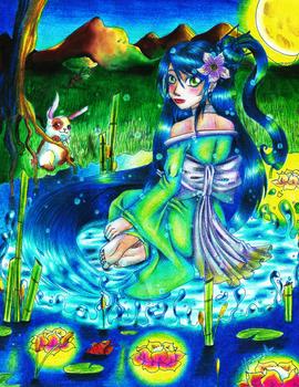 The water mistress Cyan Aguamarina