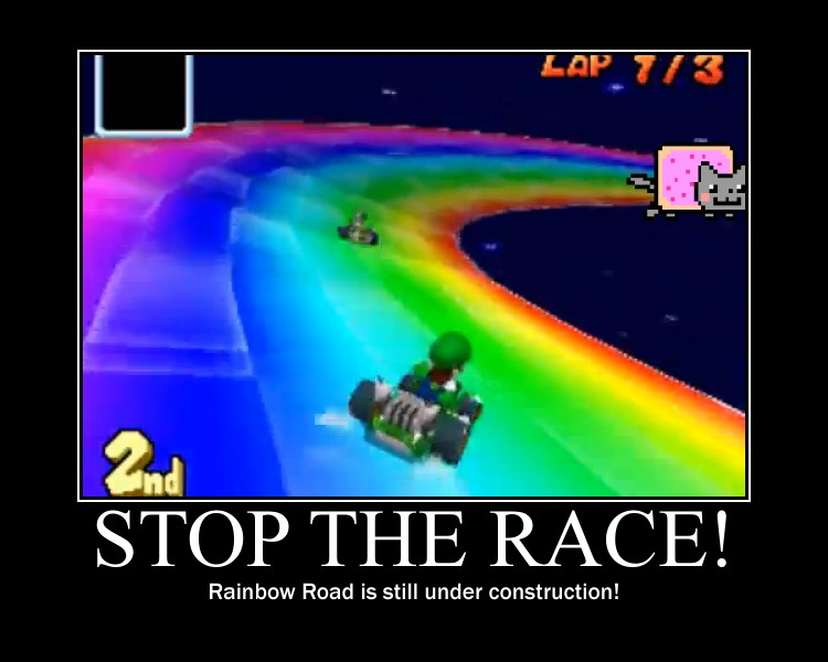 Funny Rainbow Meme : How rainbow road was made by pantaroparatroopa on deviantart