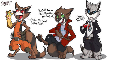 Rocket Raccoon'ing Around by ConmanWolf