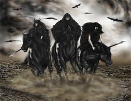 The Three Morrigans by Ionus