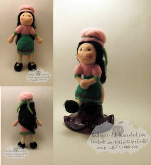 Little Miss Muffet needlefelted doll