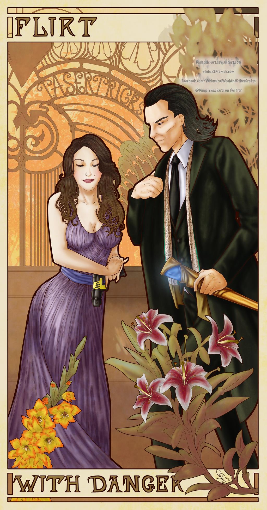Flirt With Danger by BadApple-Art