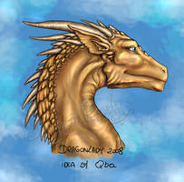 Blue-eyed dragon. by Eva-the-DragonLady