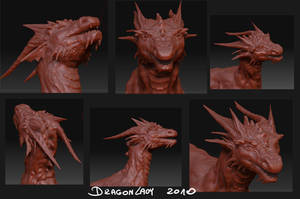 Zbrush dragon - WIP by Eva-the-DragonLady