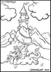 Smocza kolorowanka 2 by Eva-the-DragonLady
