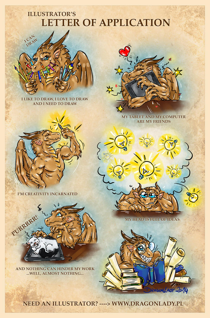 Illustrator's letter of application by Eva-the-DragonLady