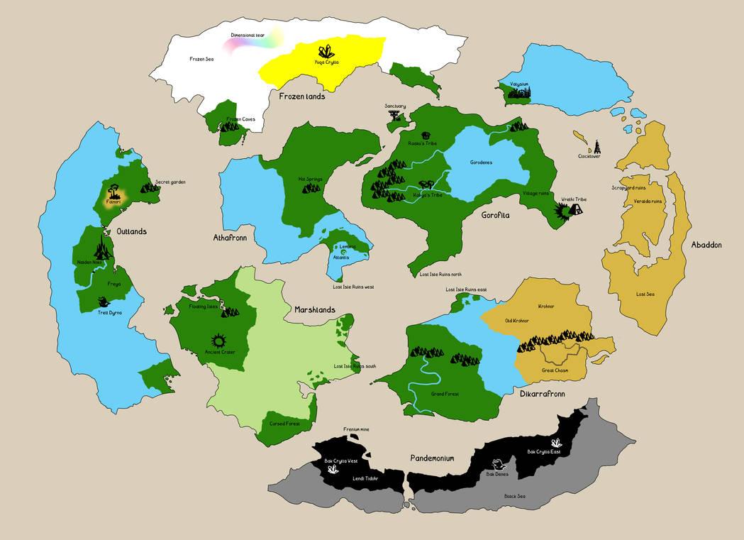 Meian worldmap (wip) by Sferath