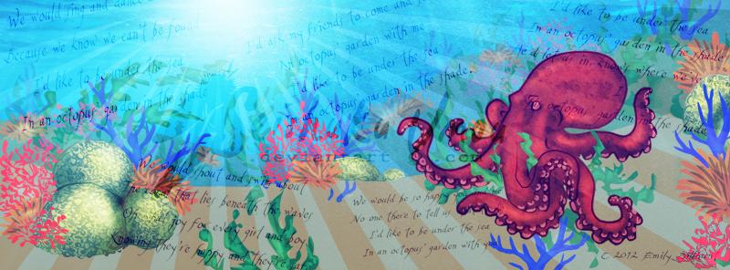 Fb Cover Octopus 39 S Garden By Seishukuumou On Deviantart