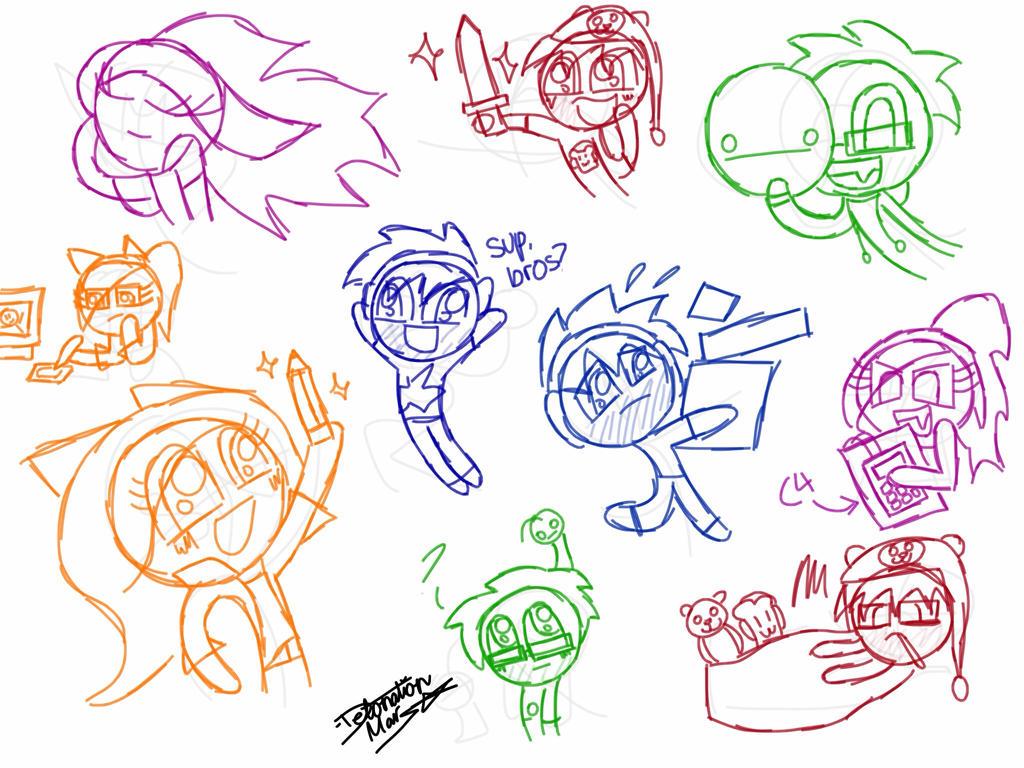 Scribblenetty Drawing : Sketch dump the youtubers by detonationmars on deviantart