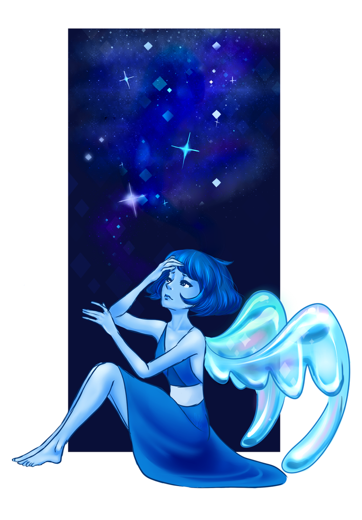Have some Lapis, because I felt like drawing a sad and pretty gem! ♥In other news, I'm drowning in work AND homework.(And I only want to be home and think of Homeworld!)I hope you'...